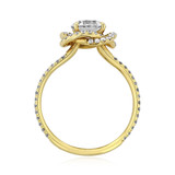 1 ct Danhov Solo Filo Halo Yellow Gold Engagement Ring  (SE100)