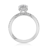1.00 Ct. Round Moissanite Simply Tacori Micro-Prong Engagement Ring (267015RD65-M)