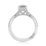 1.00 Ct. Round Moissanite Simply Tacori Micro-Prong Engagement Ring (2671RD65-M)