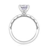 1.20 Ct. Round Moissanite Platinum Tacori Sculpted Crescent Engagement Ring (46-25RD7-M)