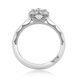 1.00 Ct. Round Moissanite Platinum Tacori Sculpted Crescent Engagement Ring (49CUP65-M)