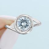 1 ct Danhov Abbraccio White Gold Engagement Ring  (AE133)