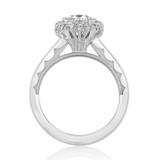 1.20 Ct. Round Moissanite Platinum Tacori Full Bloom Engagement Ring (55-2CU7-M)