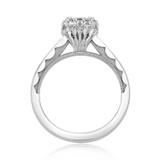 .80 Ct. Princess Cut Moissanite Tacori Full Bloom Engagement Ring (55-2PR5-M)