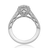 2.00 Ct. Round Moissanite Platinum Tacori Reverse Crescent Engagement Ring (HT2515RD8-M)