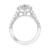 2.00 Ct. Round Moissanite Platinum Tacori Petite Crescent Engagement Ring (HT254725CU8-M)