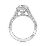 1.20 Ct. Round Moissanite Platinum Tacori Petite Crescent Engagement Ring (HT2547CU7-M)