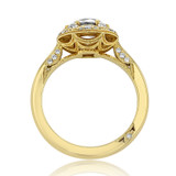 Yellow Gold Tacori Crescent Chandelier Moissanite Engagement Ring (HT2567RD7-M)