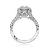 2.00 Ct. Round Moissanite Tacori Petite Crescent Engagement Ring (HT2571CU8-M)