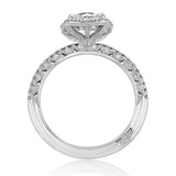 1.00 Ct. Round Moissanite Tacori Petite Crescent Engagement Ring (HT257215CU7-M)