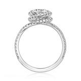 1 ct Danhov Abbraccio Halo White Gold Engagement Ring (AE100)