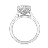 2.50 Ct. Round Moissanite 6-Prong Tulip Solitaire Engagement Ring (SO117-M)