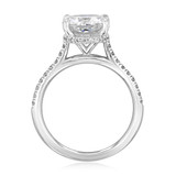 3.00 Ct. Cushion Cut Moissanite Hidden Halo Engagement Ring (CR09CU-M)