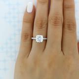 2.50 Ct. Cushion Cut Moissanite Micro-Prong Engagement Ring (AV19CU-M)