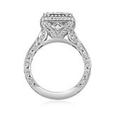 3.50 Ct. Princess Cut Moissanite Platinum Tacori RoyalT Engagement Ring (HT2607PR85-M)