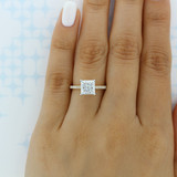 2.00 Ct. Princess Cut Moissanite Yellow Gold Micro-Prong Engagement Ring (AV19PR-M)