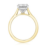 1.50 Ct. Round Two-Tone Solitaire Engagement Ring (SO71RDT)