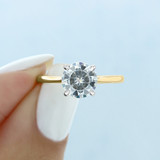 1.50 ct Round Solitaire Yellow Gold Engagement Ring (SO71RDT)