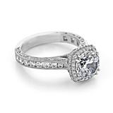 2.20 Ct. Round Moissanite Platinum Tacori RoyalT Engagement Ring (HT2607RD85-M)