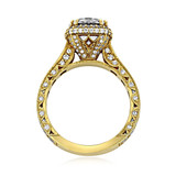 Yellow Gold Tacori RoyalT Moissanite Engagement Ring (HT2607RD8-M)