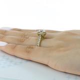 2.00 Ct. Round Moissanite Tacori Yellow Gold RoyalT Engagement Ring (HT2607RD8-M)