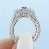 2.70 Ct. Round Platinum Tacori RoyalT Moissanite Engagement Ring (HT2613RD9-M)
