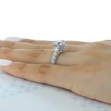 2.20 Ct. Round Moissanite Platinum Tacori RoyalT Engagement Ring (HT2623RD85-M)