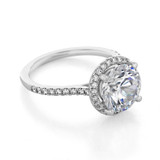 3.50 Ct. Round Moissanite Halo Micro-Prong Engagement Ring (FG86A-M)