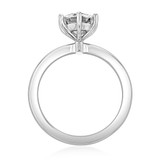 1.25 Ct. Round Moissanite 6-Prong Solitaire Engagement Ring (EV17-M)