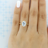 3.00Ct. Oval Shape Moissanite Yellow Gold Solitaire Engagement Ring (SO71OV-M)