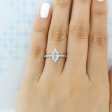 1.00 Ct. Marquise Shape Moissanite Pavé Engagement Ring (DC14MQ-M)