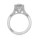Platinum Tacori RoyalT Moissanite Engagement Ring (HT2625RD9-M)