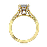 Yellow Gold Tacori RoyalT Moissanite Engagement Ring (HT2625EC9X7-M)