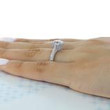 2.70 Ct. Round Moissanite Platinum Tacori RoyalT Engagement Ring (HT2626RD9-M)