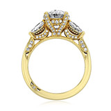 3.00 Ct. Oval Shape Moissanite Tacori Yellow Gold RoyalT Three-Stone Engagement Ring (HT2628OV10X8Y-M)