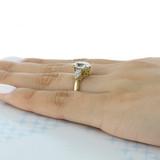 3.00 Ct. Oval Shape Moissanite Tacori Yellow Gold RoyalT Three-Stone Engagement Ring (HT2628OV10X8Y-M)