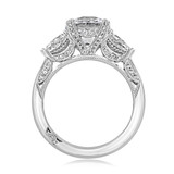2.20 Ct. Round Platinum Tacori RoyalT Moissanite Engagement Ring (HT2628RD85-M)