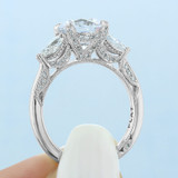 2.20 Ct. Round Moissanite Platinum Tacori RoyalT Engagement Ring (HT2628RD85-M)