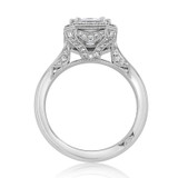 Platinum Tacori RoyalT Moissanite Engagement Ring (HT2651EC85X65-M)