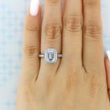 2.50 Ct. Emerald Cut Moissanite Platinum Tacori RoyalT Engagement Ring (HT2651EC85X65-M)