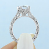 2.00 Ct. Round Moissanite Platinum Tacori RoyalT Engagement Ring (HT2663RD8-M)