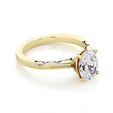 Yellow Gold Tacori Coastal Crescent Oval Moissanite Engagement Ring (P100OV85X65-M)