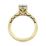 1.50 Ct. Oval Shape Moissanite Tacori Yellow Gold Coastal Crescent Engagement Ring (P100OV85X65-M)
