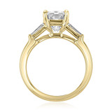 3.00Ct. Radiant Cut Moissanite Baguette Three Stone Ring (TR94RA-M)