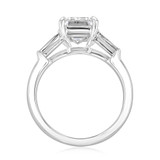 3.00Ct. Emerald Cut Moissanite Baguette Three Stone Ring (TR94EC-M)