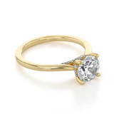 14K Yellow Gold Solitaire Moissanite Engagement Ring (FG87-M)