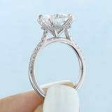 3.00 Ct. Cushion Cut Hidden Halo Micro-Prong Engagement Ring (CR09CU)