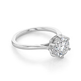 2.50 ct Round 6-Prong Solitaire White Gold Engagement Ring (SO117)