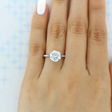 2.50 Ct. Round 6-Prong Tulip Solitaire Engagement Ring (SO117)