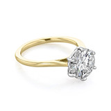 2.50 ct Round 6-Prong Solitaire Yellow Gold Engagement Ring (EV117T)